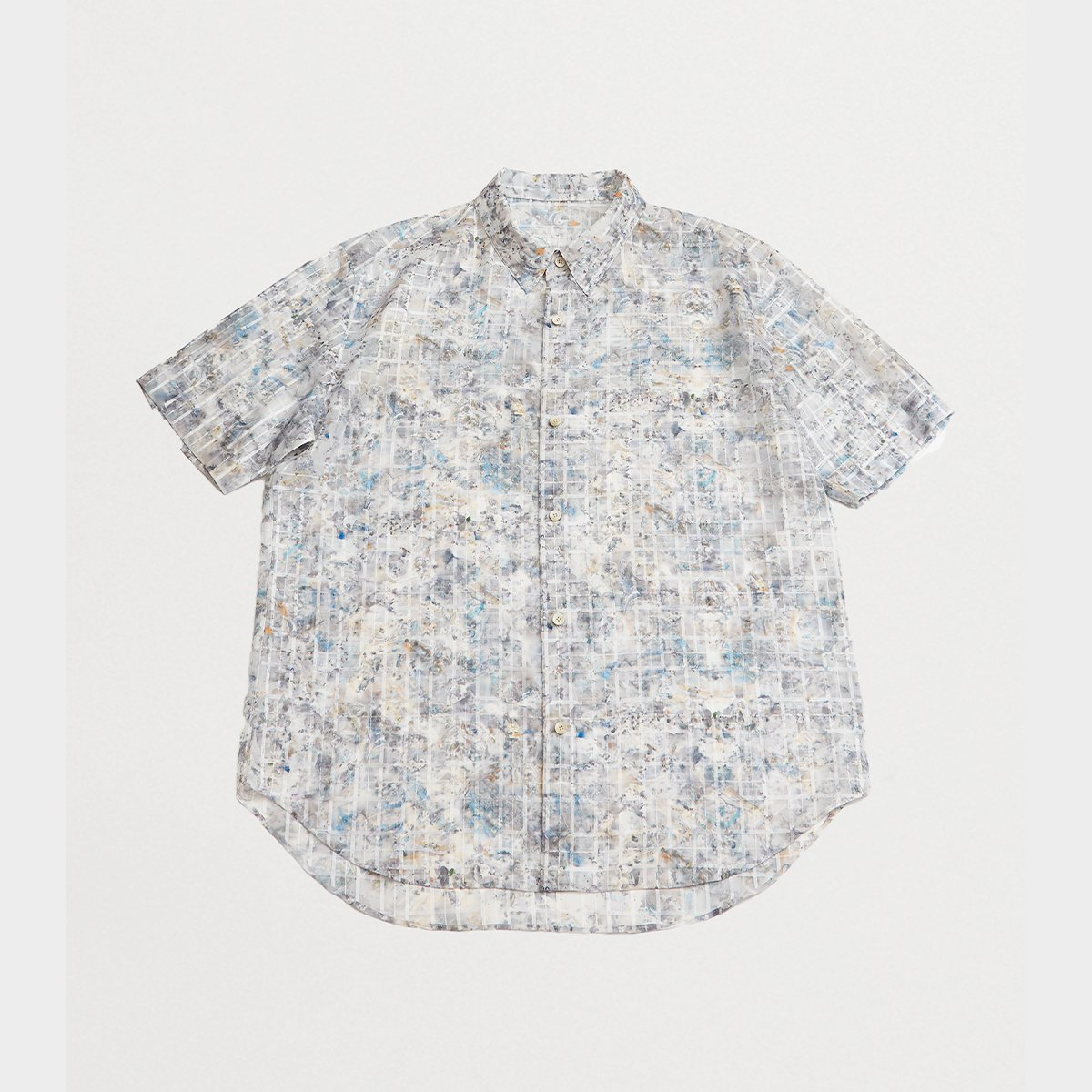 <img class='new_mark_img1' src='https://img.shop-pro.jp/img/new/icons5.gif' style='border:none;display:inline;margin:0px;padding:0px;width:auto;' />ITALIAN COLLAR SHORT-SLEEVED SHIRT / BLUE PRINT