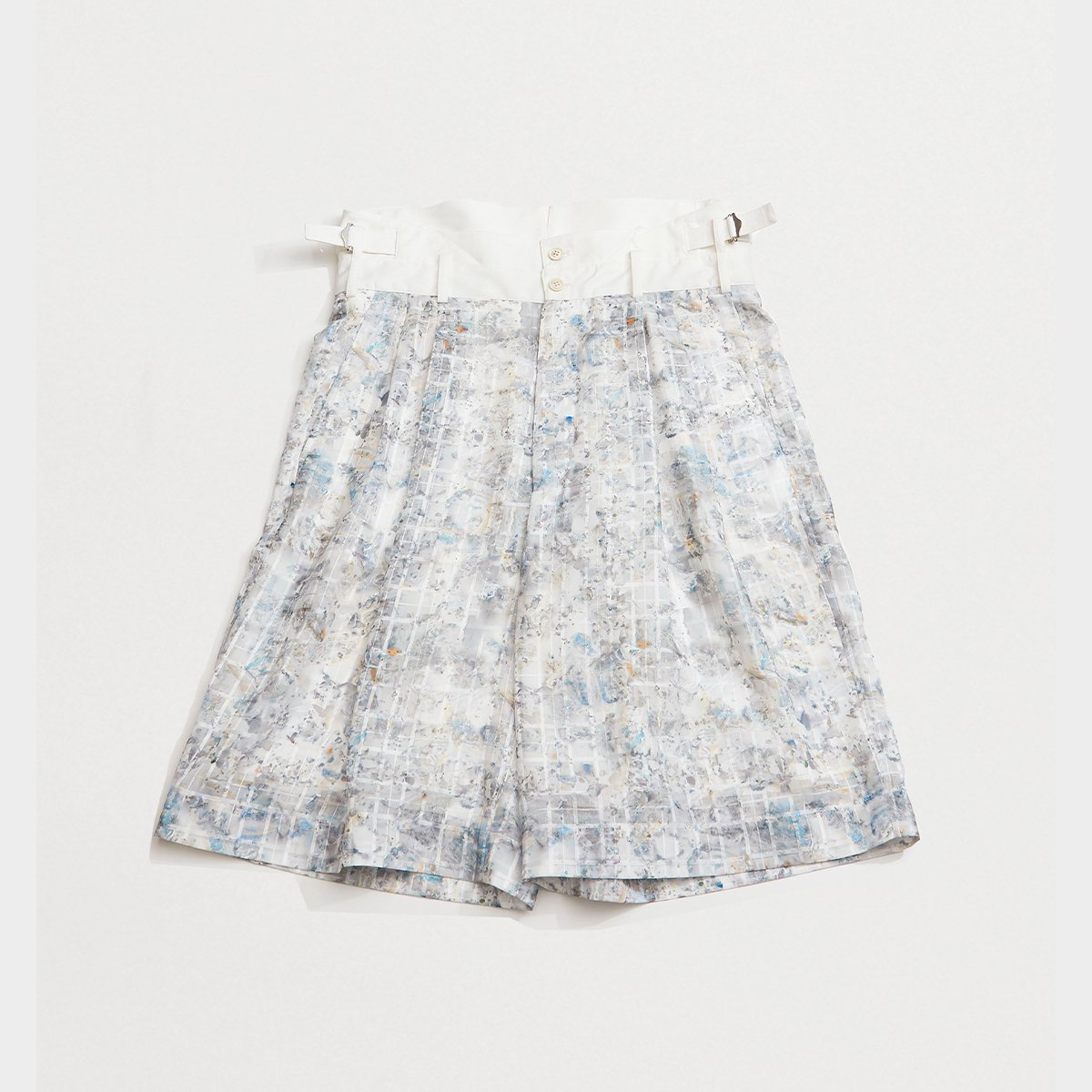 <img class='new_mark_img1' src='https://img.shop-pro.jp/img/new/icons5.gif' style='border:none;display:inline;margin:0px;padding:0px;width:auto;' />HIGH WAIST SHORTS / BLUE PRINT