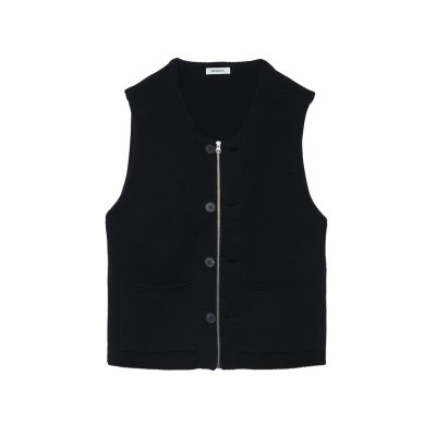 <img class='new_mark_img1' src='https://img.shop-pro.jp/img/new/icons47.gif' style='border:none;display:inline;margin:0px;padding:0px;width:auto;' />Modified Farmers Knit Vest / BLACK