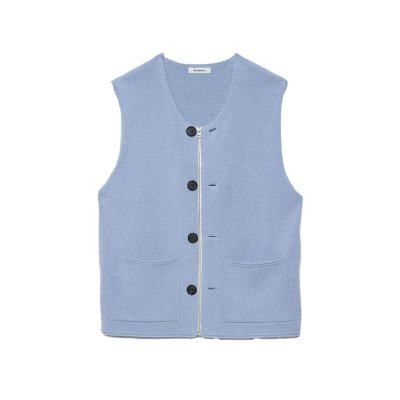 <img class='new_mark_img1' src='https://img.shop-pro.jp/img/new/icons47.gif' style='border:none;display:inline;margin:0px;padding:0px;width:auto;' />Modified Farmers Knit Vest / BLUE