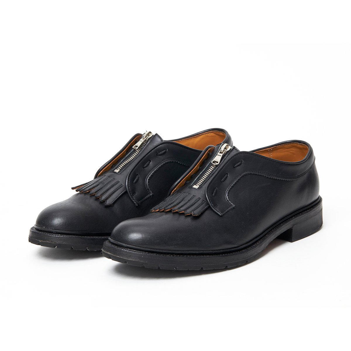 <img class='new_mark_img1' src='https://img.shop-pro.jp/img/new/icons5.gif' style='border:none;display:inline;margin:0px;padding:0px;width:auto;' />FRONT TASSEL ZIP PLANE TOE SHOES / BLACK