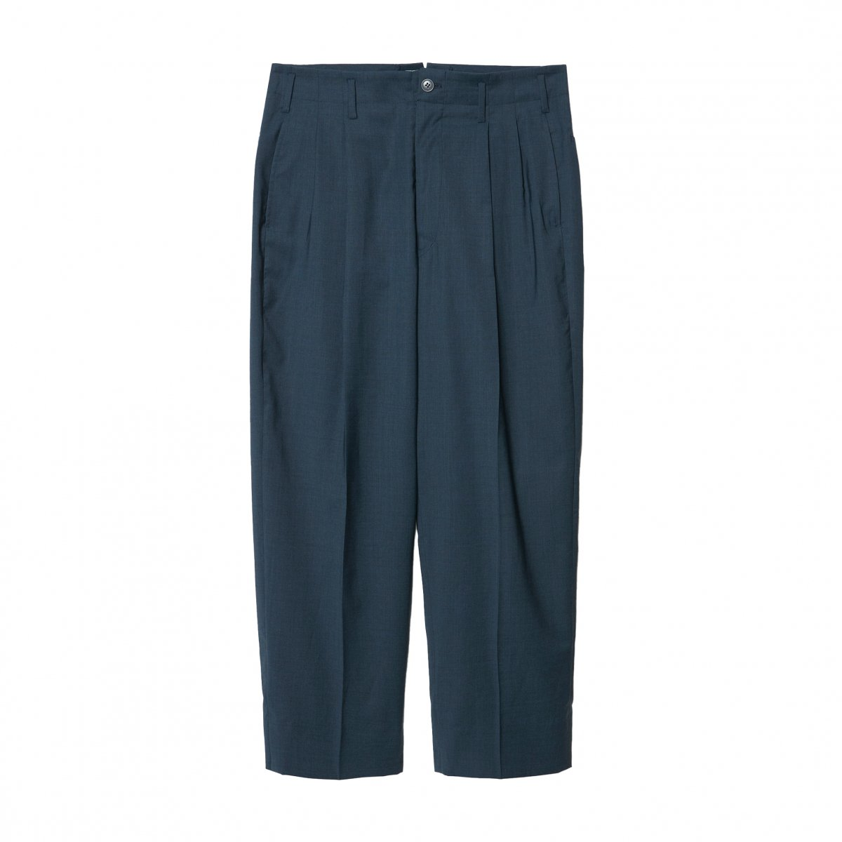 <img class='new_mark_img1' src='https://img.shop-pro.jp/img/new/icons5.gif' style='border:none;display:inline;margin:0px;padding:0px;width:auto;' />ALBINO SUPER'100 TAPARED 2TUCK TROUSERS / BLUE