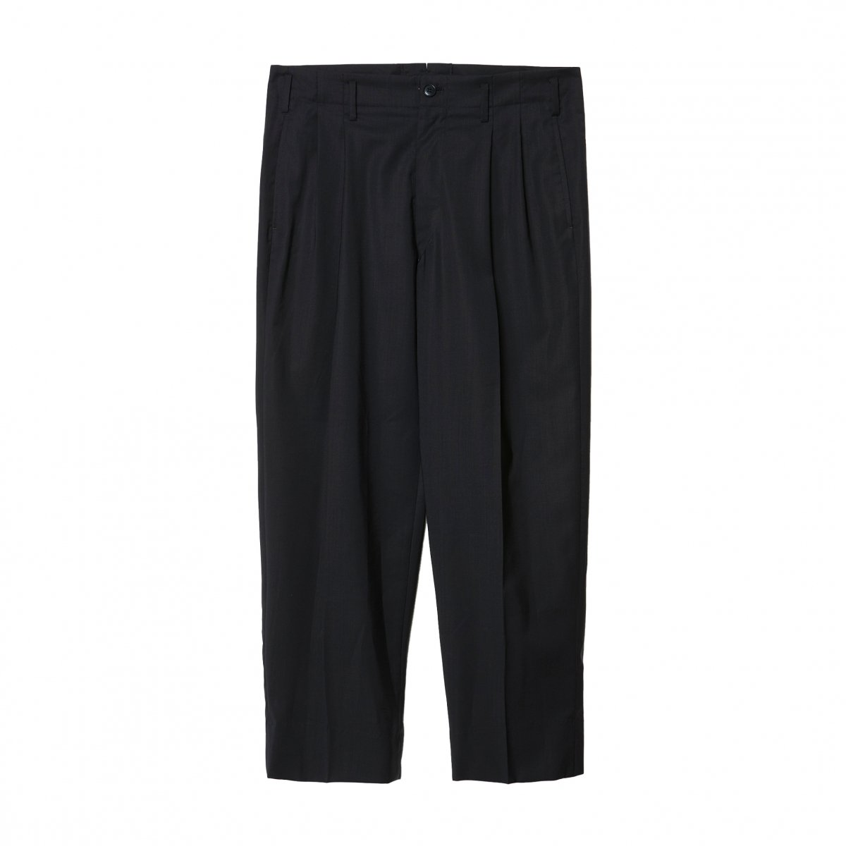 <img class='new_mark_img1' src='https://img.shop-pro.jp/img/new/icons5.gif' style='border:none;display:inline;margin:0px;padding:0px;width:auto;' />ALBINO SUPER'100 TAPARED 2TUCK TROUSERS / BLACK