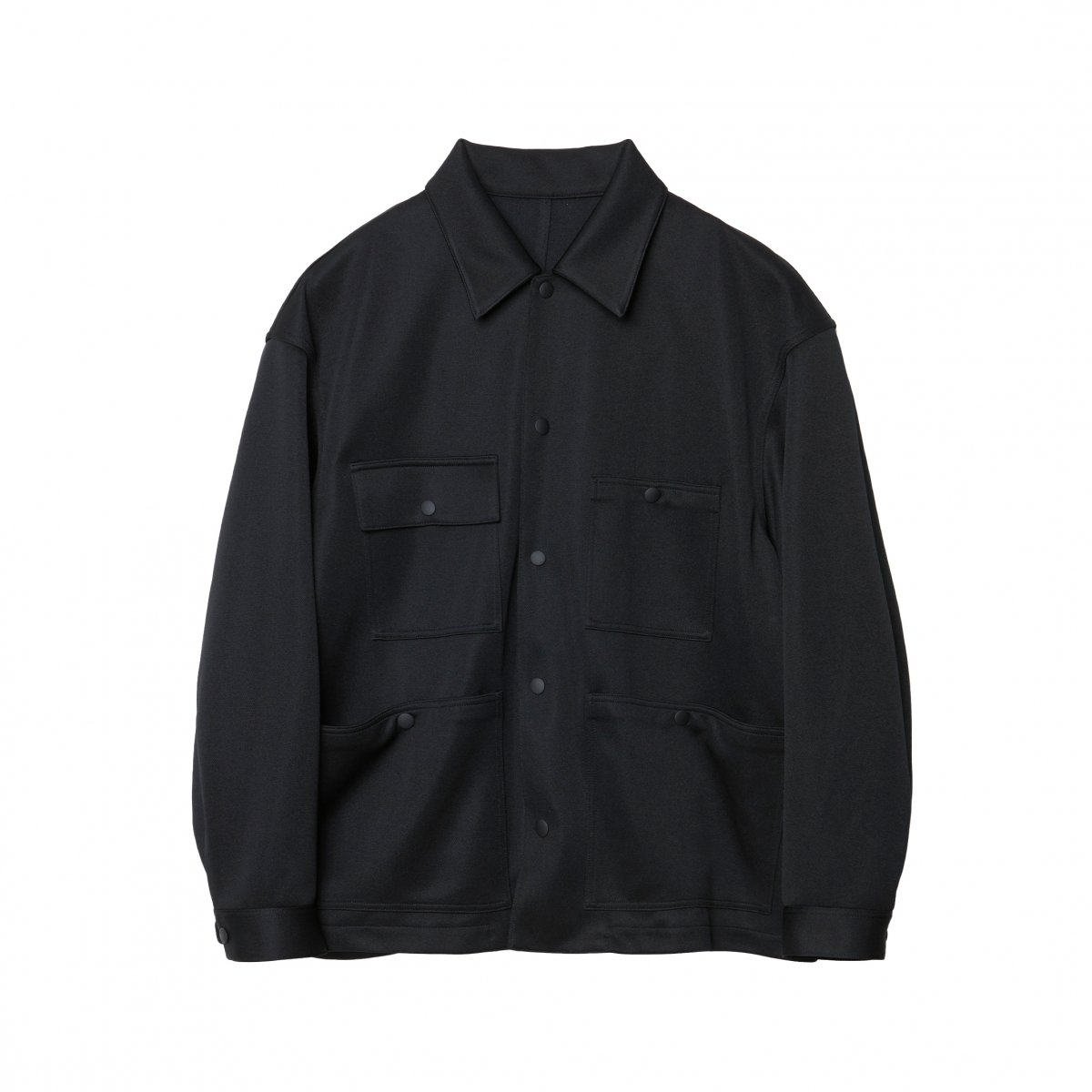 <img class='new_mark_img1' src='https://img.shop-pro.jp/img/new/icons5.gif' style='border:none;display:inline;margin:0px;padding:0px;width:auto;' />JERSEY CPO BLOUSON / BLACK