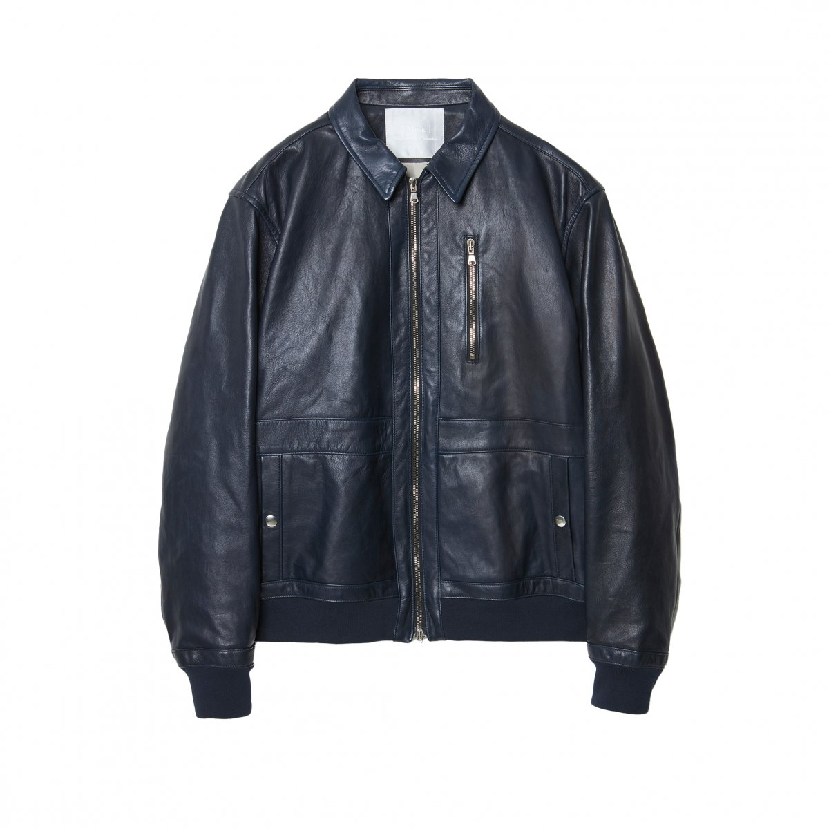 <img class='new_mark_img1' src='https://img.shop-pro.jp/img/new/icons5.gif' style='border:none;display:inline;margin:0px;padding:0px;width:auto;' />FRENCH VEGETAN LAMB LEATHER MILITARY BLOUSON / DARK NAVY