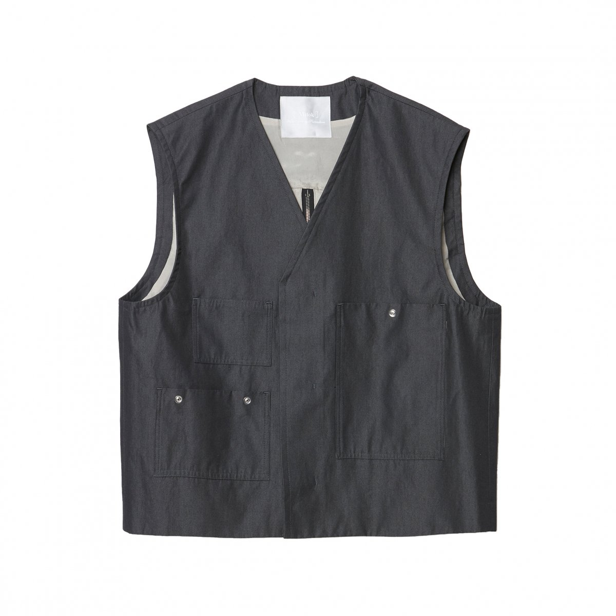 <img class='new_mark_img1' src='https://img.shop-pro.jp/img/new/icons5.gif' style='border:none;display:inline;margin:0px;padding:0px;width:auto;' />OLMETEX DYED COTTON CONSTRUCTIVE VEST / GREY