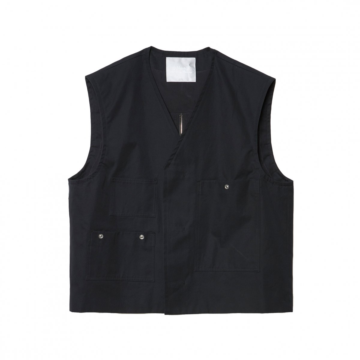 <img class='new_mark_img1' src='https://img.shop-pro.jp/img/new/icons5.gif' style='border:none;display:inline;margin:0px;padding:0px;width:auto;' />OLMETEX DYED COTTON CONSTRUCTIVE VEST / BLACK