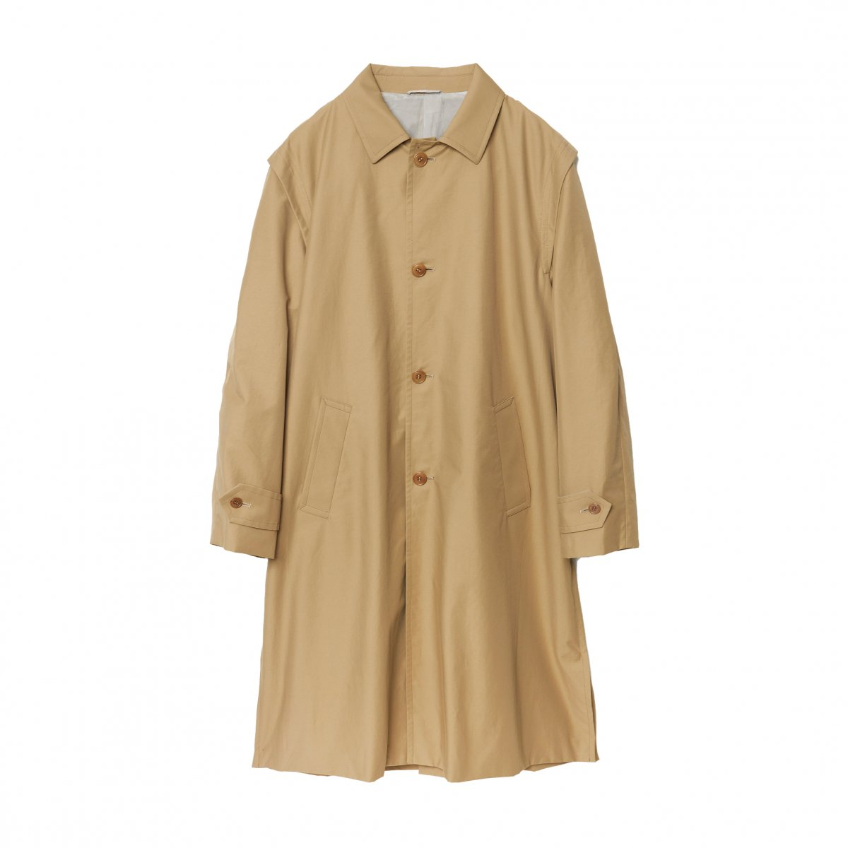 <img class='new_mark_img1' src='https://img.shop-pro.jp/img/new/icons5.gif' style='border:none;display:inline;margin:0px;padding:0px;width:auto;' />OLMETEX COTTON NYLON LOWDEN COAT / BEIGE