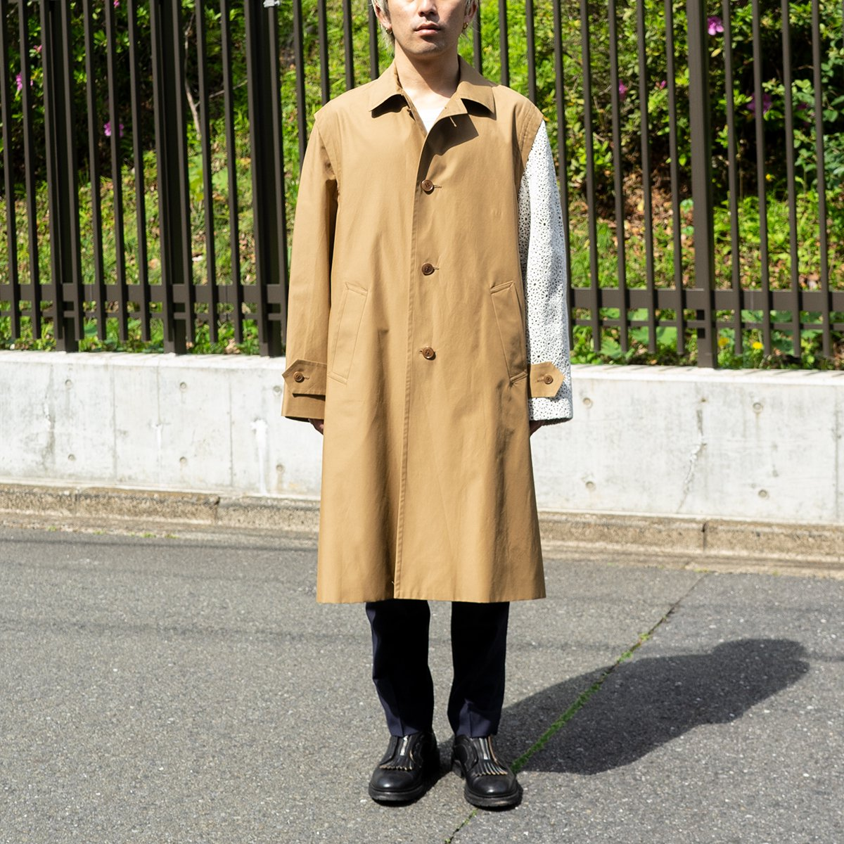 <img class='new_mark_img1' src='https://img.shop-pro.jp/img/new/icons5.gif' style='border:none;display:inline;margin:0px;padding:0px;width:auto;' />OLMETEX COTTON NYLON ONE ARM LOWDEN COAT / BEIGE