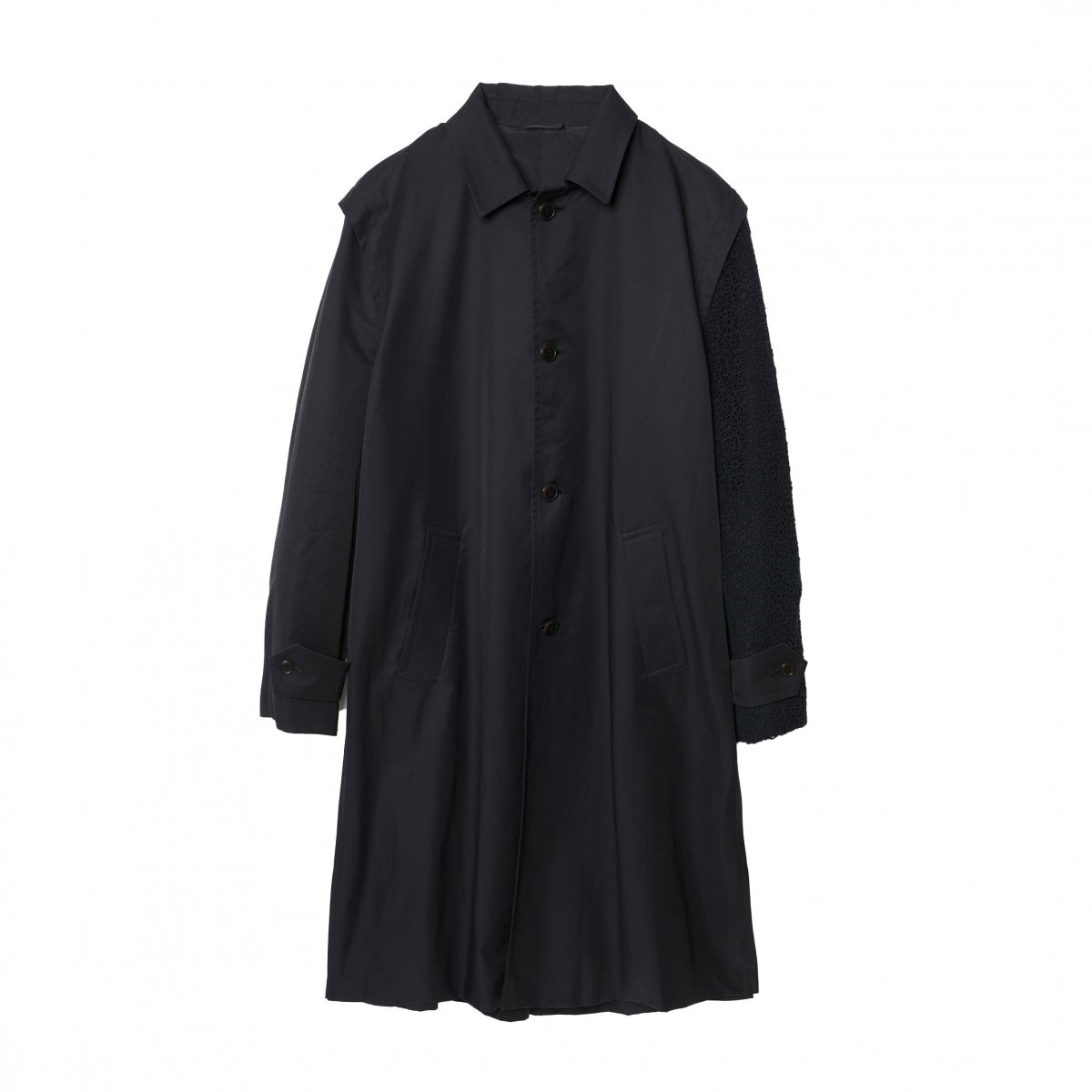 <img class='new_mark_img1' src='https://img.shop-pro.jp/img/new/icons5.gif' style='border:none;display:inline;margin:0px;padding:0px;width:auto;' />OLMETEX COTTON NYLON ONE ARM LOWDEN COAT / BLACK