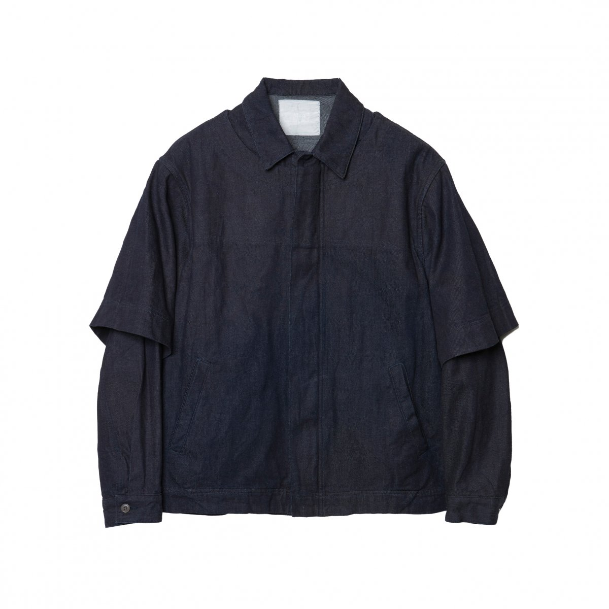 <img class='new_mark_img1' src='https://img.shop-pro.jp/img/new/icons5.gif' style='border:none;display:inline;margin:0px;padding:0px;width:auto;' />PULL OVERED DENIM BLOUSON / NAVY