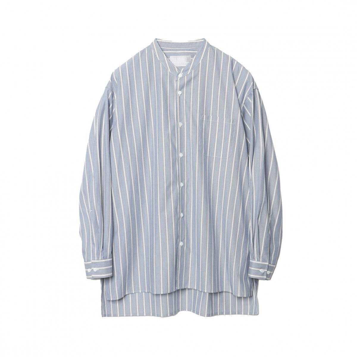<img class='new_mark_img1' src='https://img.shop-pro.jp/img/new/icons5.gif' style='border:none;display:inline;margin:0px;padding:0px;width:auto;' />FINE GIZA COTTON V-COLLAR SHIRT / STRIPE