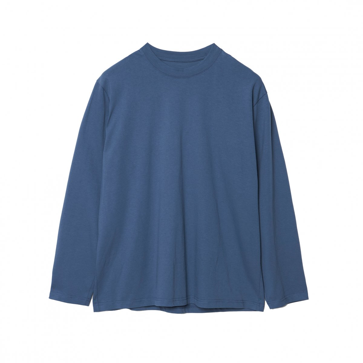 <img class='new_mark_img1' src='https://img.shop-pro.jp/img/new/icons5.gif' style='border:none;display:inline;margin:0px;padding:0px;width:auto;' />EXTRA STAPLE COTTON LONG SLEEVE TEE / BLUE