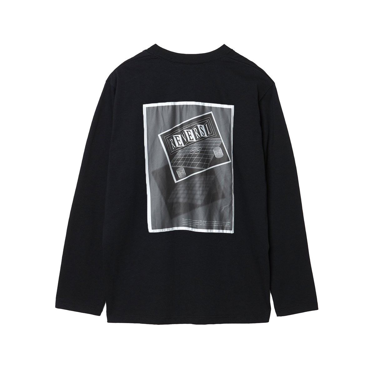 "<img class='new_mark_img1' src='https://img.shop-pro.jp/img/new/icons5.gif' style='border:none;display:inline;margin:0px;padding:0px;width:auto;' />EXTRA STAPLE COTTON LONG SLEEVE TEE WITH ""REVERSI"" / BLACK"