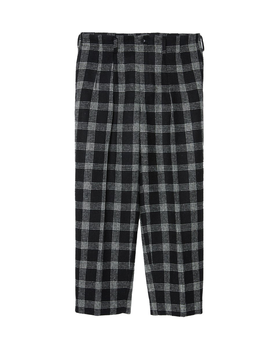 【2021AW】ARCHITECT DOUBLE TUCK TROUSERS | BLACK&WHITE