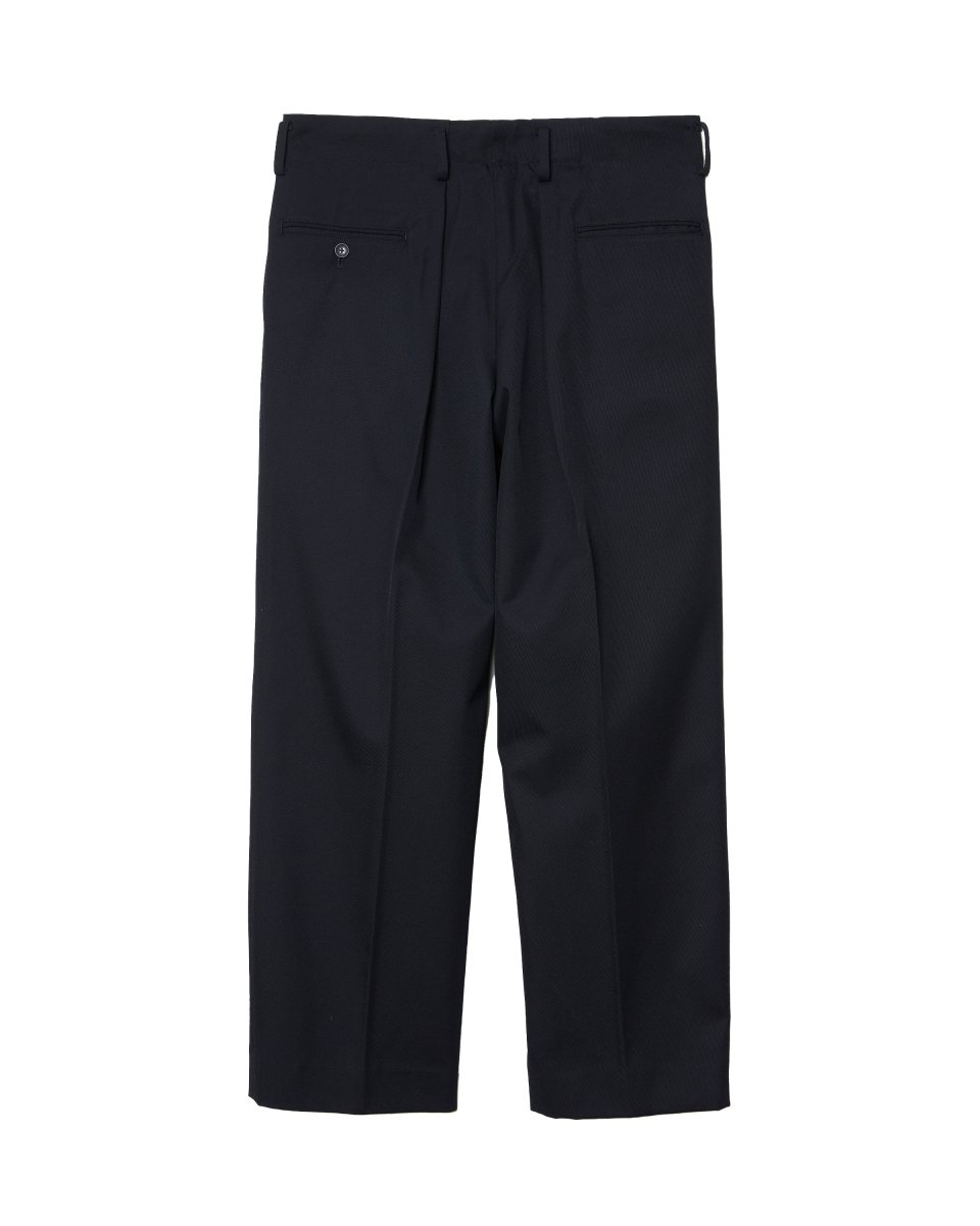 【2021AW】ARCHITECT DOUBLE TUCK TROUSERS | NAVY