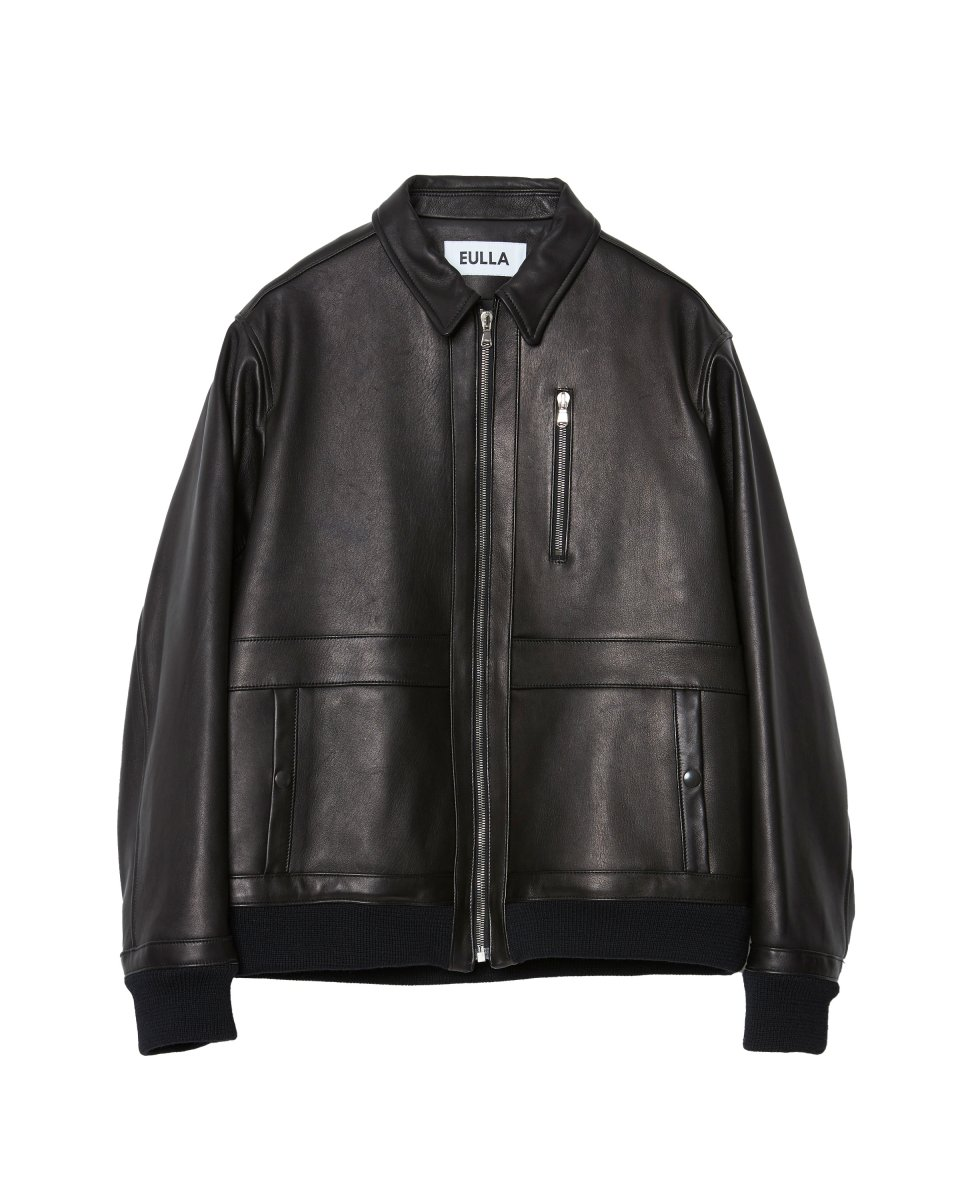 <img class='new_mark_img1' src='https://img.shop-pro.jp/img/new/icons5.gif' style='border:none;display:inline;margin:0px;padding:0px;width:auto;' />【2021AW】FRENCH VEGETAN LAMB LEATHER BLOUSON | BLACK