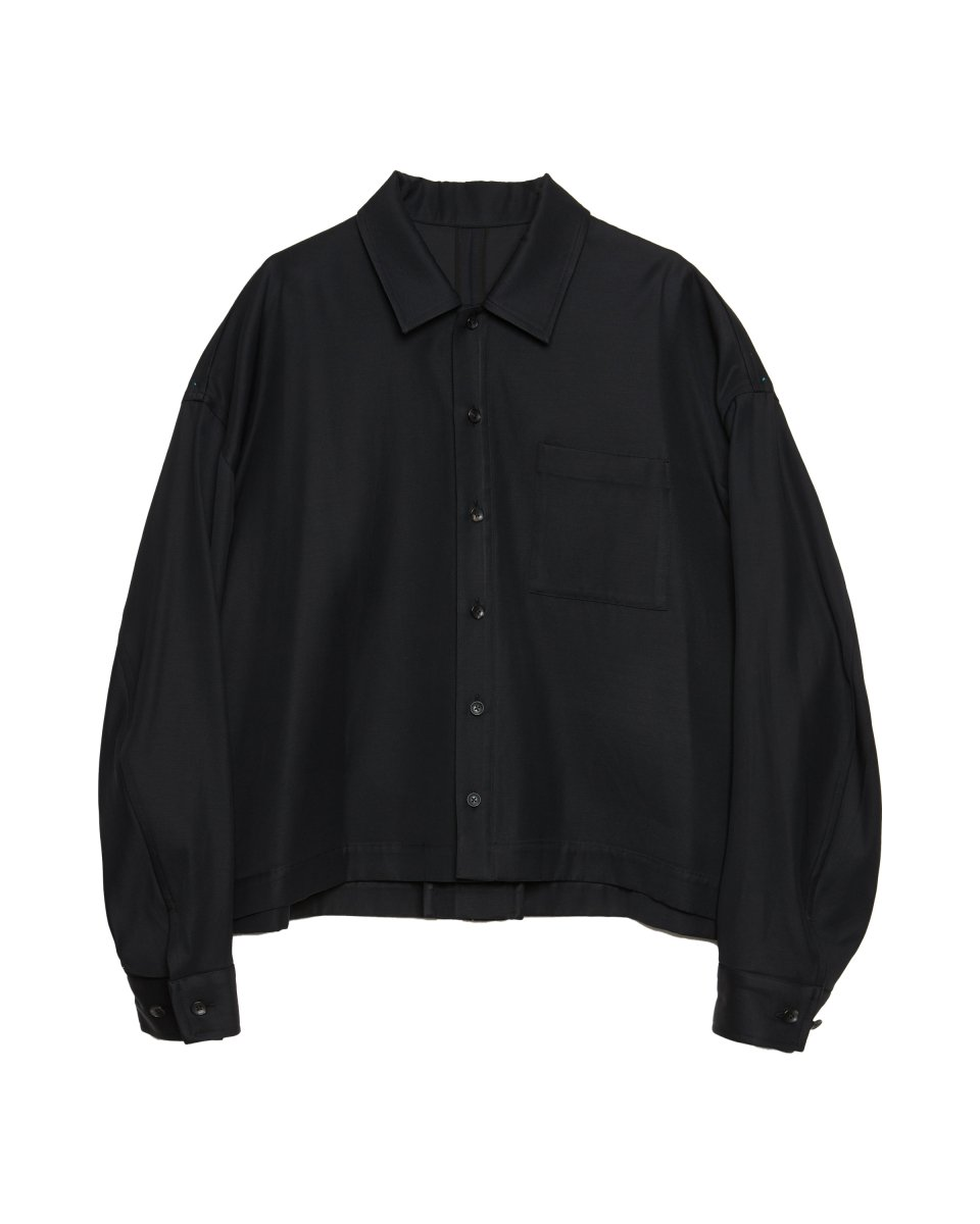 <img class='new_mark_img1' src='https://img.shop-pro.jp/img/new/icons5.gif' style='border:none;display:inline;margin:0px;padding:0px;width:auto;' />【2021AW】CONSTRUCTED SHIRT JACKET | BLACK