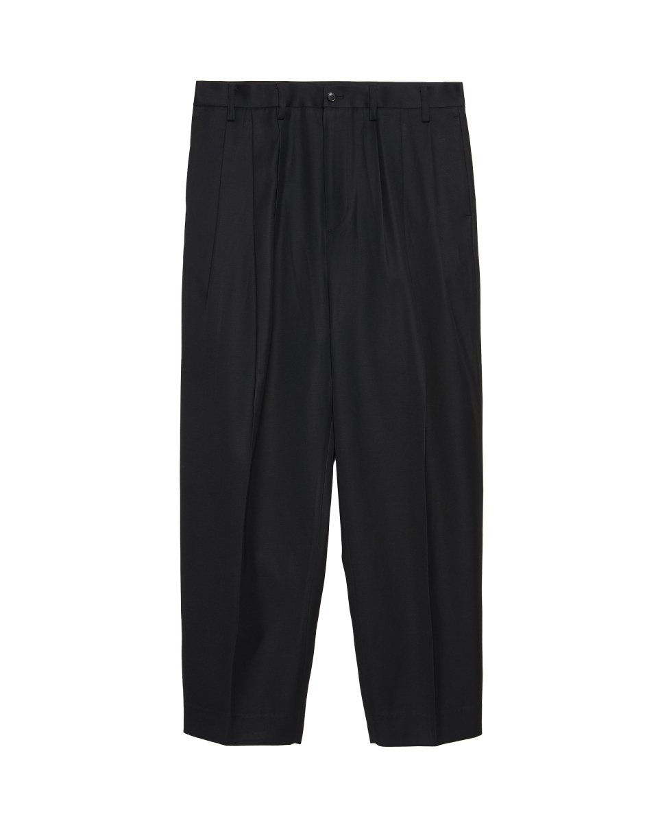 【2021AW】CONSTRUCTED 3TUCK WIDE TROUSERS | BLACK
