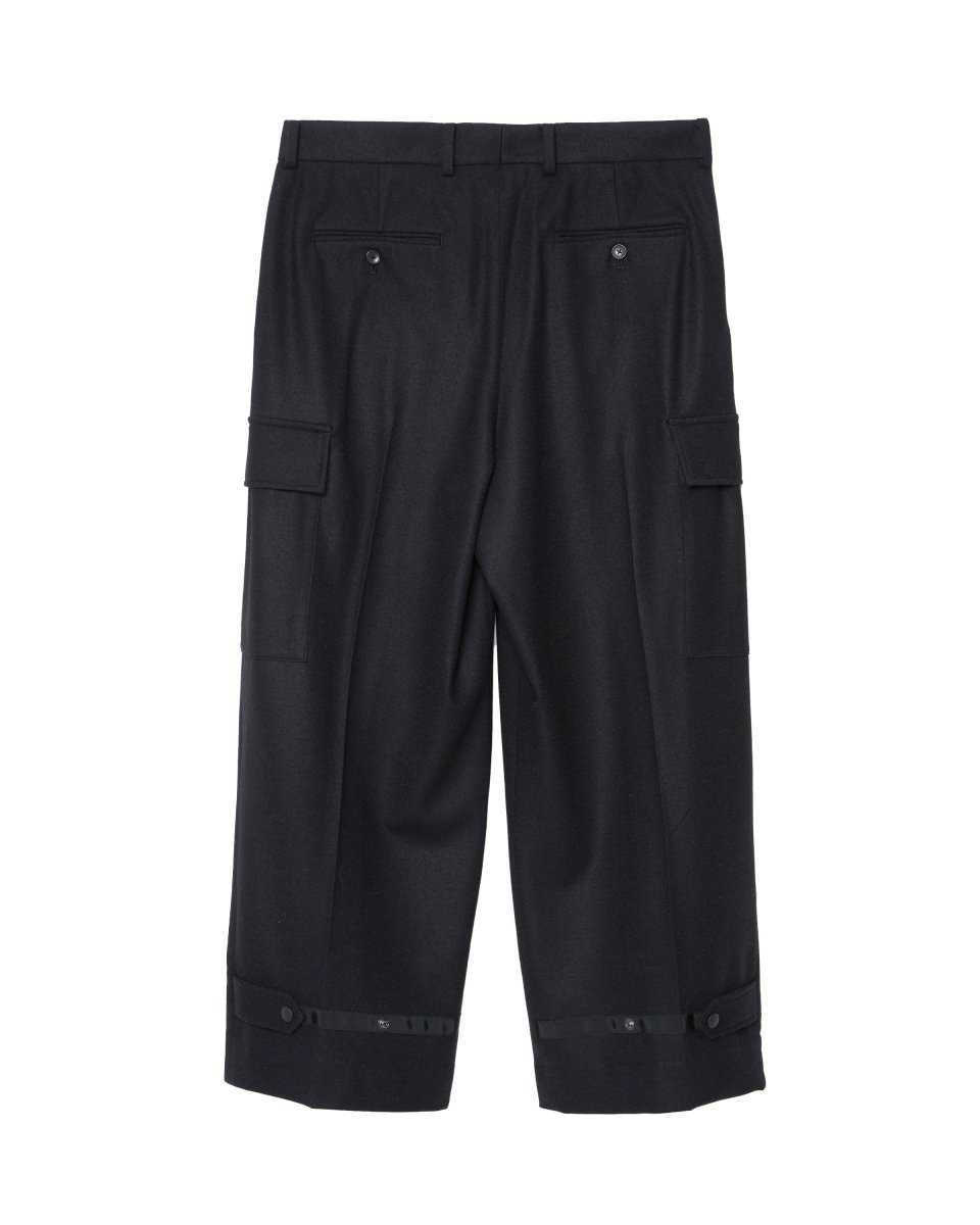 【2021AW】WOOL WIDE CARGO PANT | BLACK