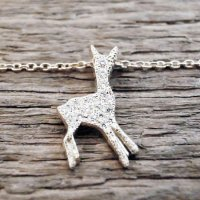 BAMBI NECKLACE WITH DIAMOND