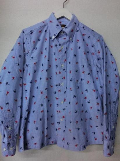 サンサーフ オックスフォードボタンダウンシャツ フラダンサー SS24815-125 ブルー