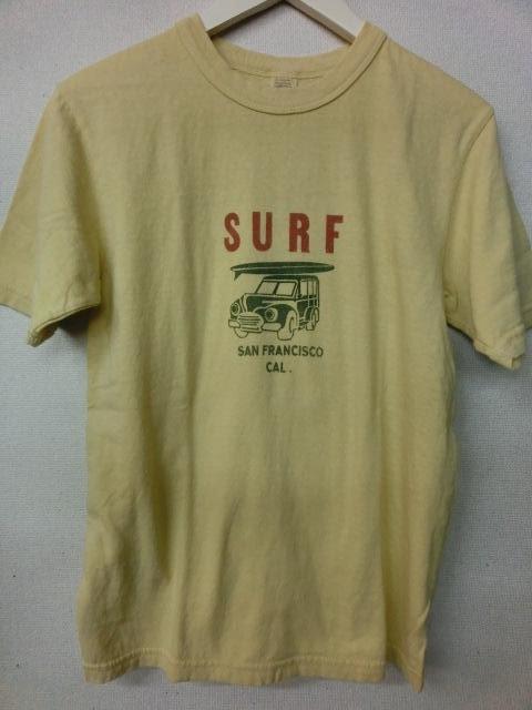 ウエス 半袖Tシャツ  サーフワゴンTシャツ     651513-08   イエロー