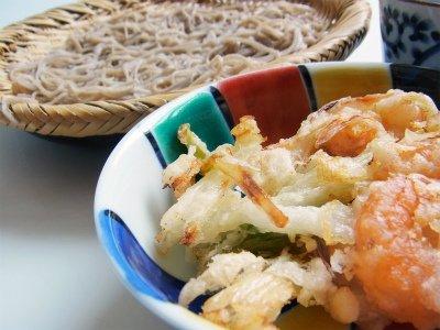 蕎麦やさんの天ぷら粉の調理例