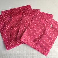 *china retro*ビニールお買いもの袋小(ピンク小粒ドット)5枚セット
