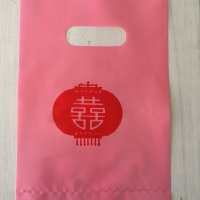 *china pop*ビニールお買いもの袋ランタン柄5枚セット(ピンク)