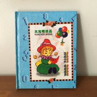 *china retro*デッドストックハードカバーメモ帳(女の子)