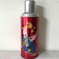 *china retro*チャイナレトロ魔法瓶0.6L(赤・蝶)