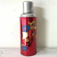*china retro*チャイナレトロ魔法瓶0.6L(赤・カラフル花)