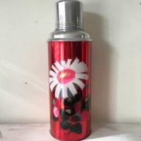 *china retro*チャイナレトロ魔法瓶0.6L(赤・白い花)