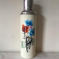 *china retro*チャイナレトロ魔法瓶0.8L(クリーム系・グリーンライン花)