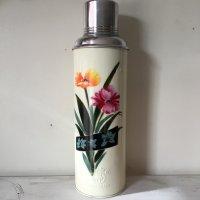 *china retro*チャイナレトロ魔法瓶0.8L(クリーム系・黒ライン花)