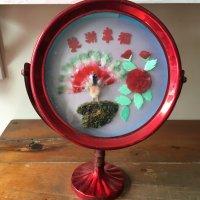 【JUNK】*china vintage*ブリキ婚礼ミラー