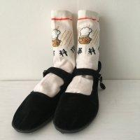 *china retro*中華食堂靴下(白)