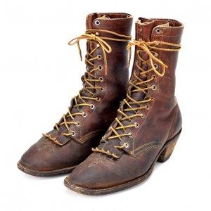 WHITE'S BOOTS/ホワイツ ブーツ (旧ロゴ ブラウン 飾りステッチ)   ドレスパッカーブーツ 【US9.5 E】