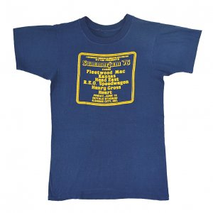 1976 SUMMERJAM FLEETWOOD MAC KANSAS HEART ヴィンテージTシャツ 【M相当】