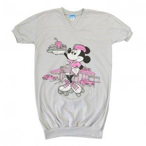 80'S MINNIE MOUSE ミニーマウス ディズニーオフィシャル ヴィンテージワンピTシャツ 【L】