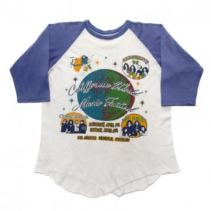 1979 CALIFORNIA WORLD MUSIC FESTIVAL AEROSMITH VAN HALEN ヴィンテージTシャツ 【M相当】