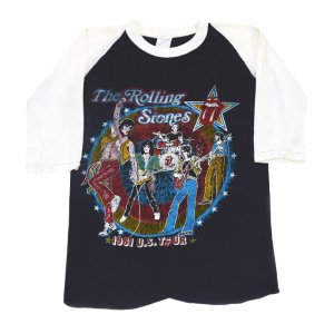 1981 ROLLING STONES ローリングストーンズ TATTOO YOU TOUR パキ綿 ヴィンテージTシャツ 【M】