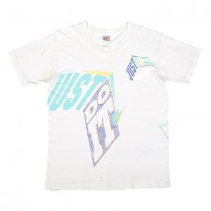 90'S NIKE ナイキ JUST DO IT 銀タグ USA製 ヴィンテージTシャツ 【S】