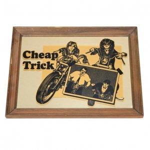 70'S CHEAP TRICK/チープトリック 蒼ざめたハイウェイ ヴィンテージ壁掛けミラー
