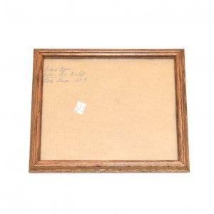 USAヴィンテージ ガラス入 木製フォトフレーム  (HE1083)
