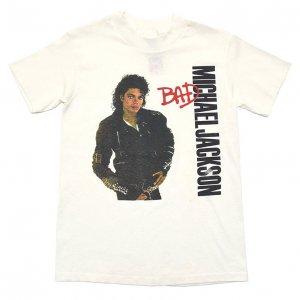 80'S MICHAEL JACKSON マイケルジャクソン BAD ヴィンテージTシャツ 【S】