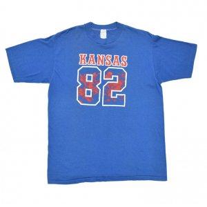 1982 UNIVERSITY OF KANSAS ナンバリング ヴィンテージTシャツ 【XL】