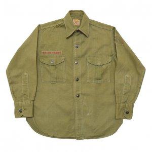 40'S  BOY SCOUTS OF AMERICA オフィシャル マチ付き チェンジボタン ヴィンテージボーイスカウトシャツ 【キッズサイズ】