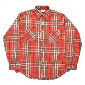 70'S BIG MAC ビッグマック JCPENNEY 赤白緑 フランネルシャツ 【M】